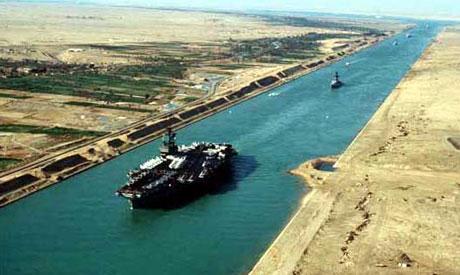 Jätteprojektet Suezkanalens breddning är nu klart!